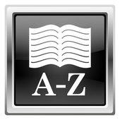 значок книги a-z — Стоковое фото