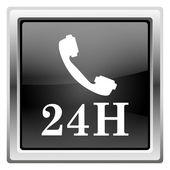 Ikony telefonu 24h — Zdjęcie stockowe