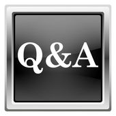 Icono Q&A — Foto de Stock