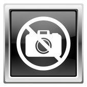 Forbidden camera icon — Stock Photo