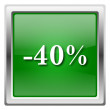 40 percent discount icon — ストック写真