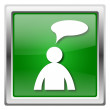 Stock Photo: Comments icon - mwith bubble