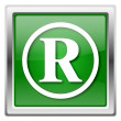 Stockfoto: Registered mark icon