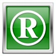 Registered mark icon — Foto de stock #32555133