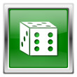 Dice icon — Stockfoto #32555653