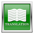 Translation book icon — Stock Photo