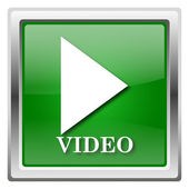 Video play icon — Stock Photo