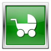 детские коляски значок — Стоковое фото