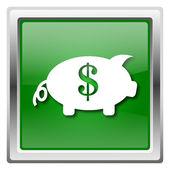 Zapisz pieniądze ikona — Zdjęcie stockowe