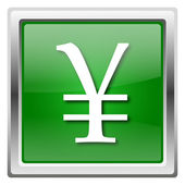 Yen icon — Stock Photo