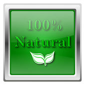 100% натуральных значок — Стоковое фото