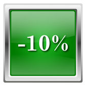 10 percent discount icon — Stock Photo
