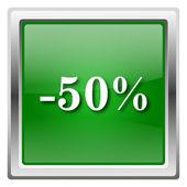значок 50% скидки — Стоковое фото