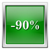 90 percent discount icon — Stock Photo