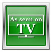 As seen on TV icon — Stockfoto