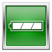 W pe³ni na³adowana bateria ikona — Zdjęcie stockowe