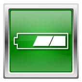 2 trzecie bateria ikona — Zdjęcie stockowe