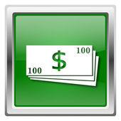 Ikona pieniądze — Zdjęcie stockowe