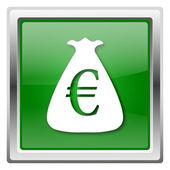 Ikona worek euro — Zdjęcie stockowe