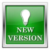 Nowa wersja ikona — Zdjęcie stockowe