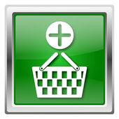 Add to basket icon — Stock Photo