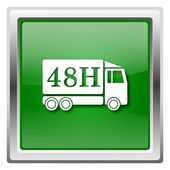 иконка грузовик доставки 48h — Стоковое фото