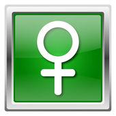 Ikona kobiece kobieta znak — Zdjęcie stockowe