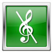 музыкальная нота - нет значка звука — Стоковое фото