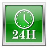 Ikona zegar 24h — Zdjęcie stockowe