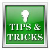 советы и хитрости значок — Стоковое фото