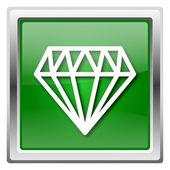 Diamond icon — Stock Photo