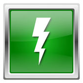 Lightning icon — Stock Photo