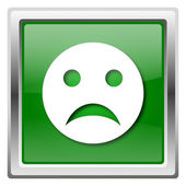 Sad smiley icon — Stock Photo