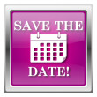 Save the date icon — Zdjęcie stockowe