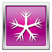 Snowflake icon — Foto Stock