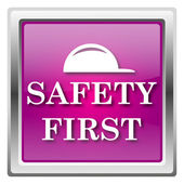 Safety first icon — Foto de Stock