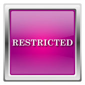 Restricted icon — Stock Photo