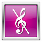Musical note - no sound icon — Stock Photo