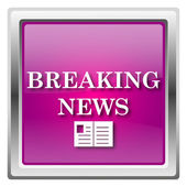 Breaking news icon — Foto Stock