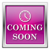Coming soon icon — Stock Photo