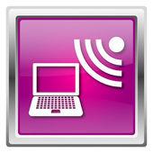 значок беспроводной ноутбук — Стоковое фото