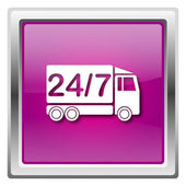 24 7 delivery truck icon — Stock Photo