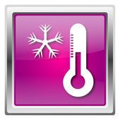 Snowflake with thermometer icon — 图库照片