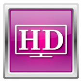 HD TV icon — Stock Photo