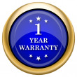 1 year warranty icon — Stock Photo