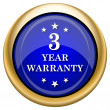 3 year warranty icon — Stock Photo