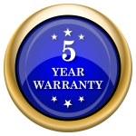 5 year warranty icon — Stock Photo #33337263