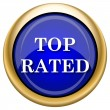 Foto de Stock  : Top rated icon