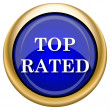 图库照片: Top rated icon