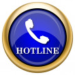 Hotline icon — Stock fotografie